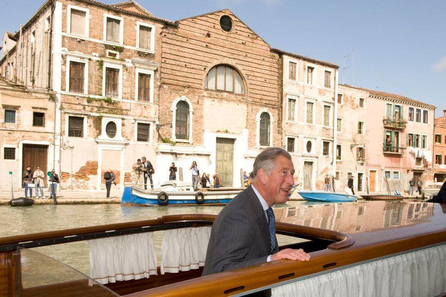 Le prince Charles à Venise, le 28 avril 2009