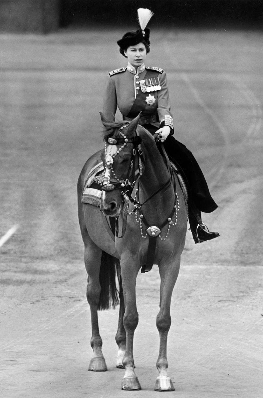 La princesse Elizabeth d'Angleterre (futur reine Elizabeth II), en 1951