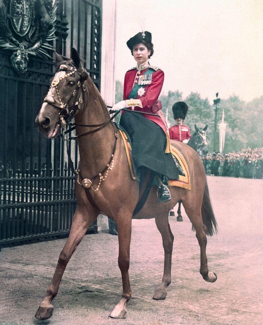 La princesse Elizabeth d'Angleterre (futur reine Elizabeth II), le 7 juin 1951