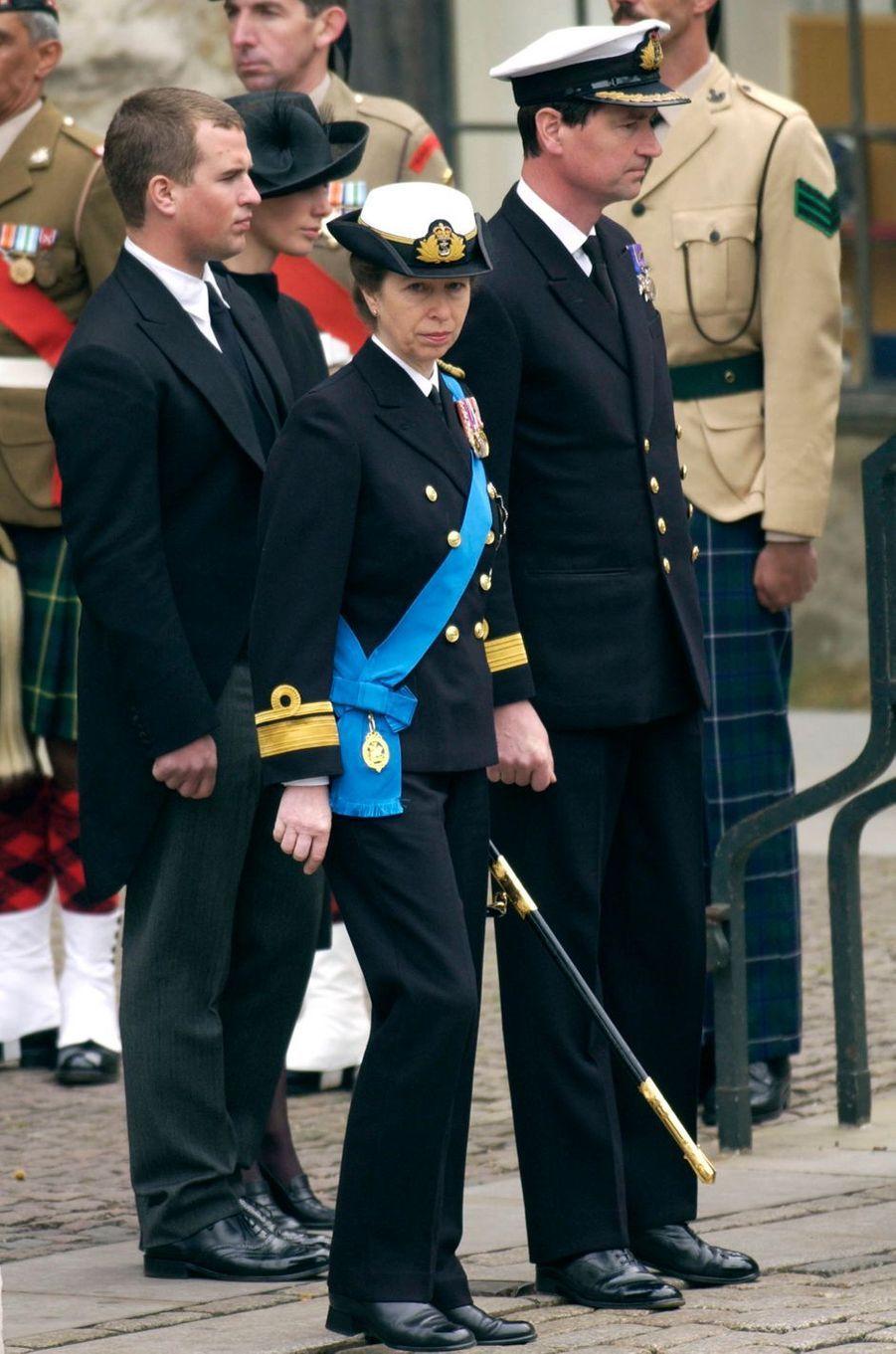 La princesse Anne d'Angleterre, le 9 avril 2002