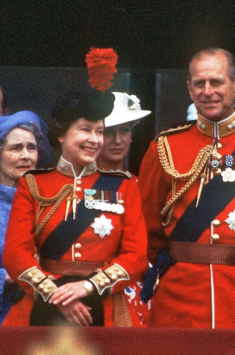 La reine Elizabeth II d'Angleterre, le 12 juin 1982