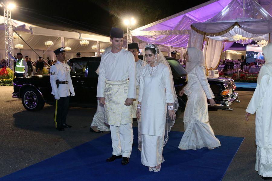 Le mariage de la princesse Tunku Tun Aminah Sultan Ibrahim et du Néerlandais Dennis Muhammad Abdullah à Johor Bahru, le 14 août 2017