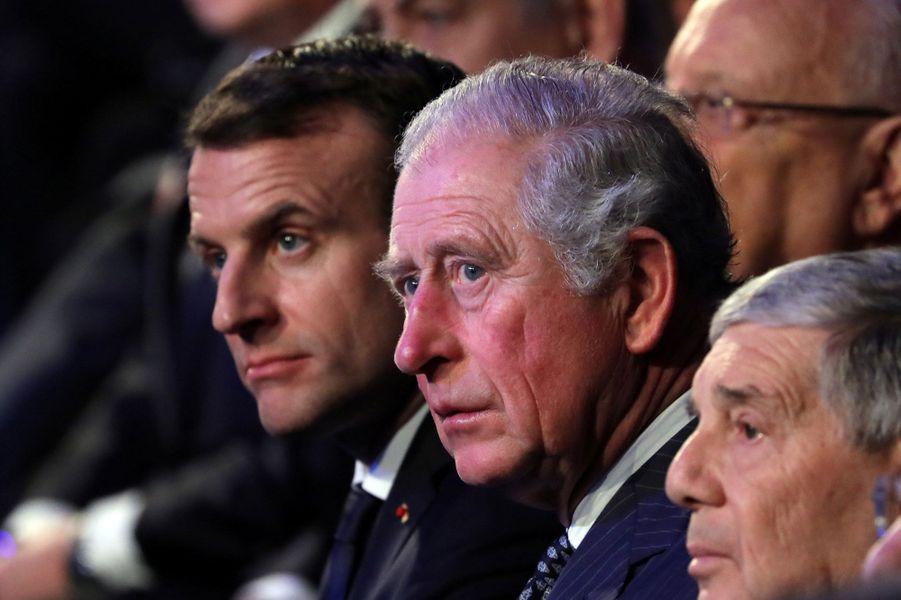 Le prince Charles avec Emmanuel Macron à Jérusalem, le 23 janvier 2020