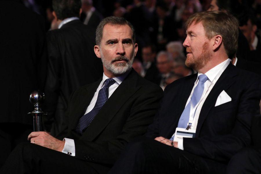 Les rois Felipe VI d'Espagne et Willem-Alexander des Pays-Bas à Jérusalem, le 23 janvier 2020
