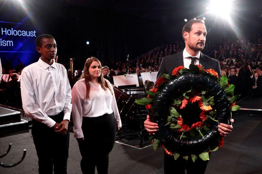 Le prince héritier Haakon de Norvège à Jérusalem, le 23 janvier 2020