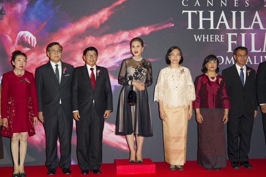 La princesse Ubolratana de Thaïlande au Festival de Cannes, le 12 mai 2018