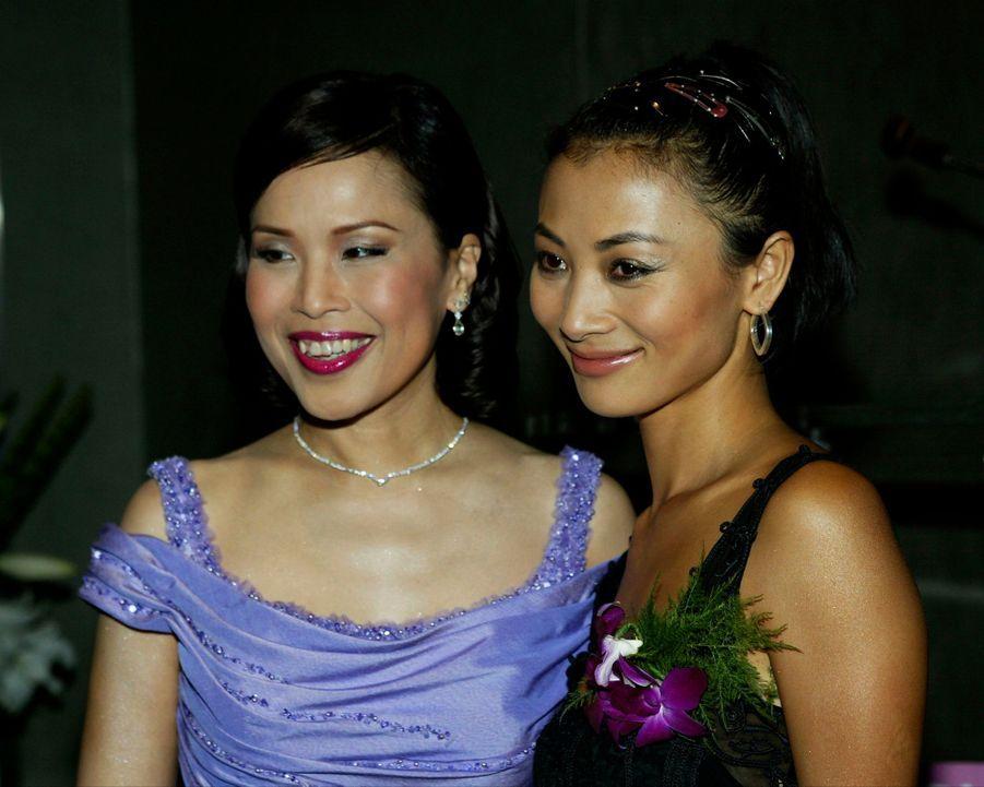 La princesse Ubolratana de Thaïlande (à gauche) à West hollywood, le 5 septembre 2003