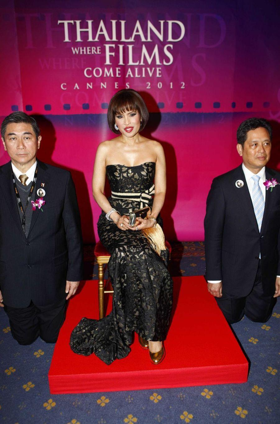 La princesse Ubolratana de Thaïlande au Festival de Cannes, le 17 mai 2012