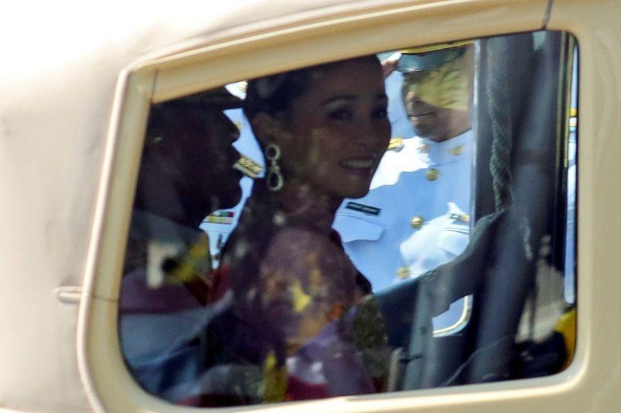 La reine Suthida et le roi de Thaïlande Maha Vajiralongkorn (Rama X) à Bangkok, le 4 mai 2019