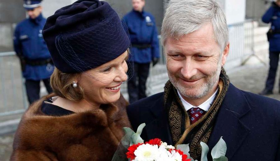 Le prince héritier Philippe de Belgique et son épouse Mathilde