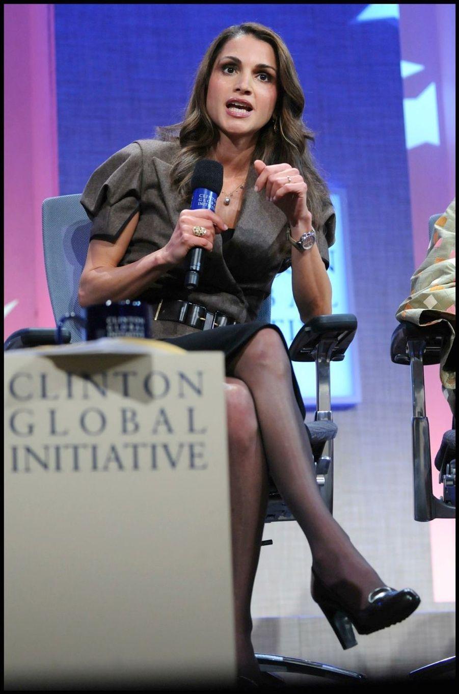 La reine Rania à la Clinton Global Initiative en 2008