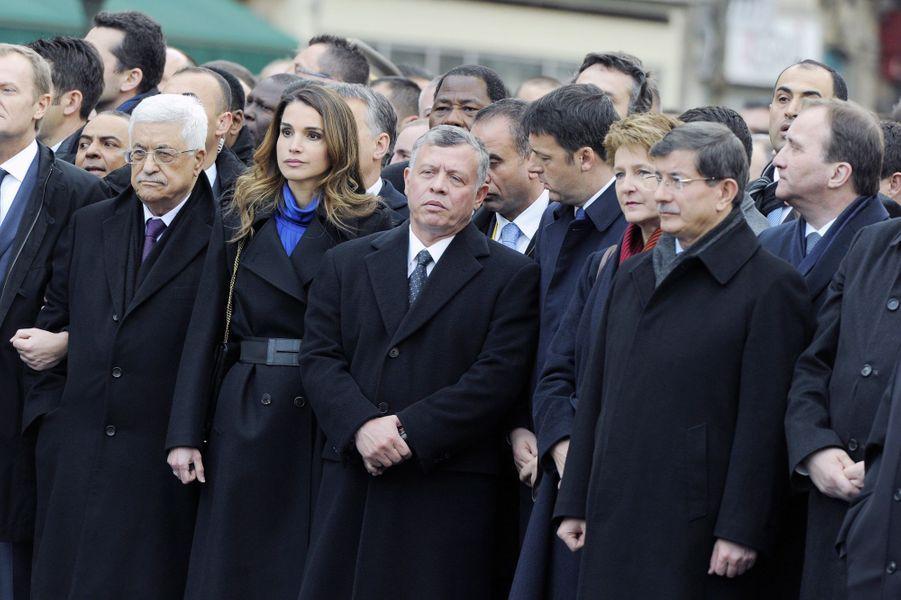 La reine Rania à Paris pour la marche du 11 janvier 2015