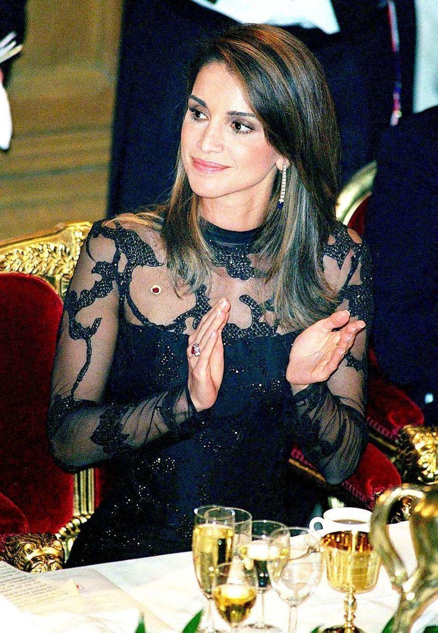La reine Rania au Guildhall de Londres en 2001