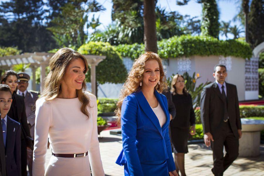 La reine Rania avec la princesse Lalla Salma au Maroc en 2015
