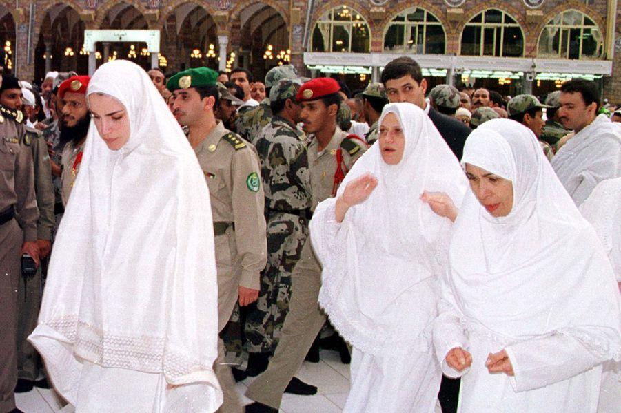 La reine Rania en pèlerinage à La Mecque en 1999