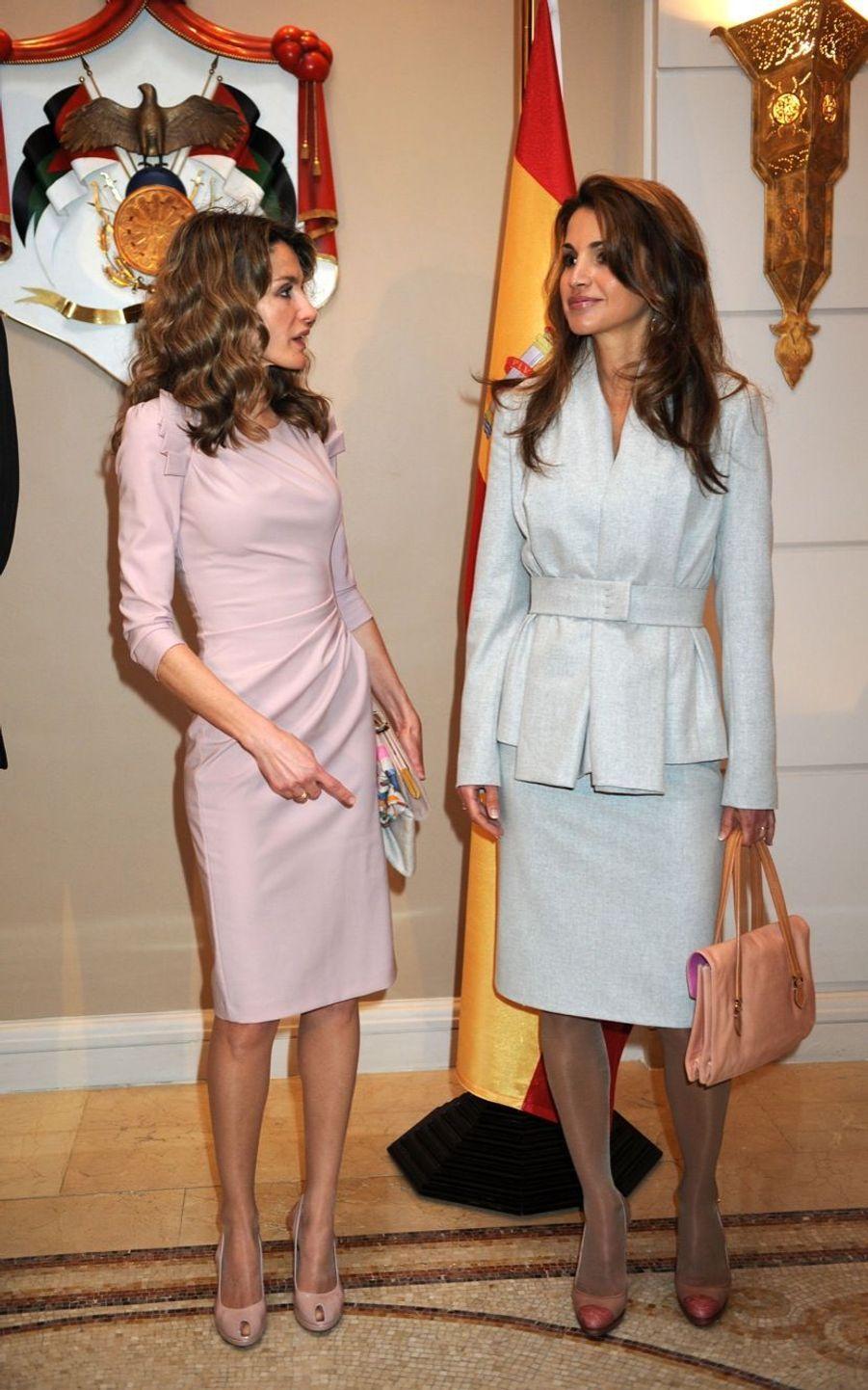La reine Rania et la princesse Letizia à Amman en 2011
