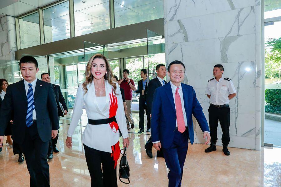 La reine Rania de Jordanie à la 2e XIN Philanthropy Conference à Hangzhou, le 4 septembre 2018