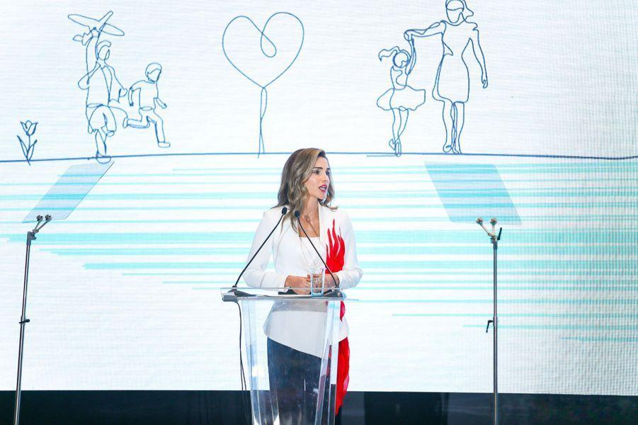 La reine Rania de Jordanie à Hangzhou, le 4 septembre 2018