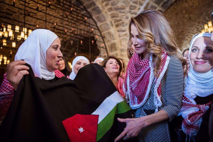 Rania de Jordanie à Amman, le 11 janvier 2017