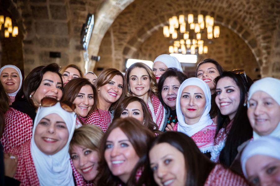 La reine Rania de Jordanie à Amman, le 11 janvier 2017