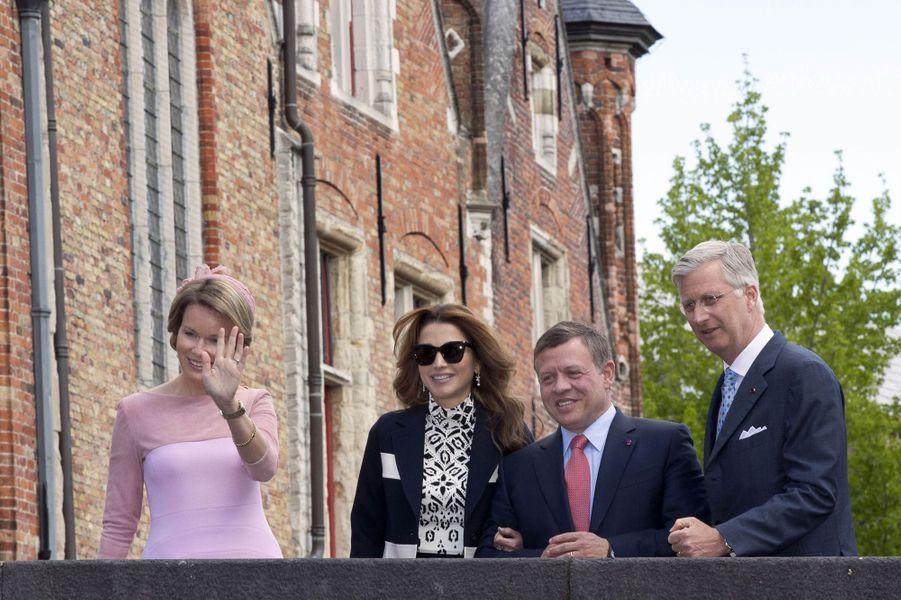 Les rois et reines de Belgique et de Jordanie à Bruges, le 19 mai 2016