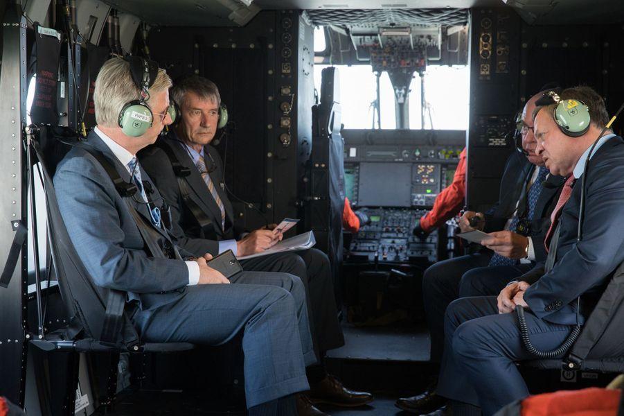 Les rois Philippe de Belgique et Abdallah II de Jordanie à Zeebrugge, le 19 mai 2016