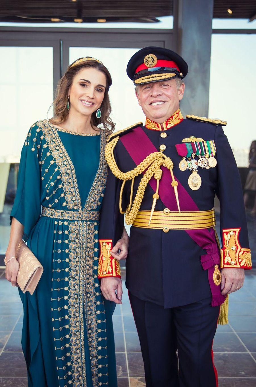 La reine Rania de Jordanie avec le roi Abdallah II à Amman, le 2 juin 2016