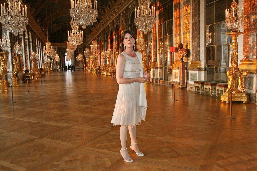 La princesse Caroline de Monaco au château de Versailles, le 9 juin 2008