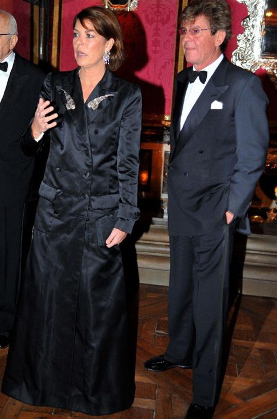 La princesse Caroline de Monaco avec le prince Ernst-August de Hanovre au château de Versailles, le 19 novembre 2007