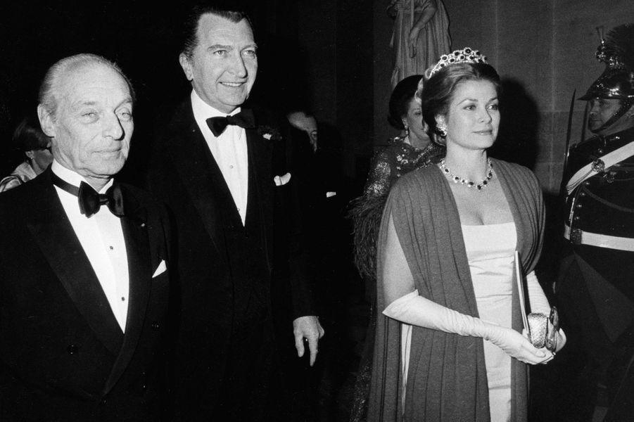 La princesse Grace de Monaco au château de Versailles, le 28 novembre 1973