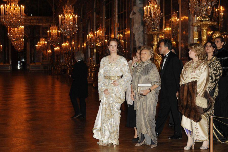 La princesse Lalla Salma du Maroc au château de Versailles, le 1er février 2010