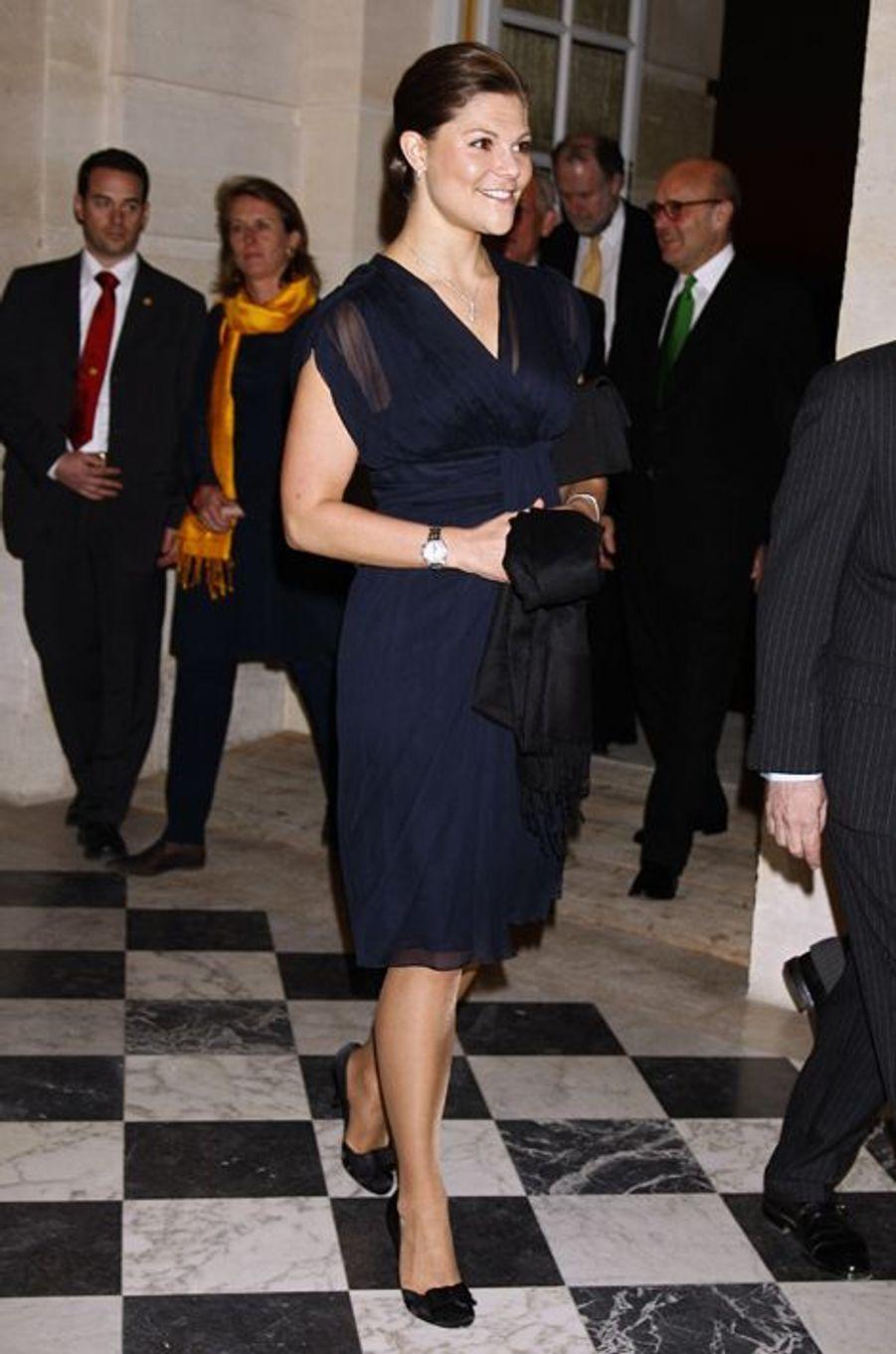 La princesse Victoria de Suède au château de Versailles, le 18 février 2008