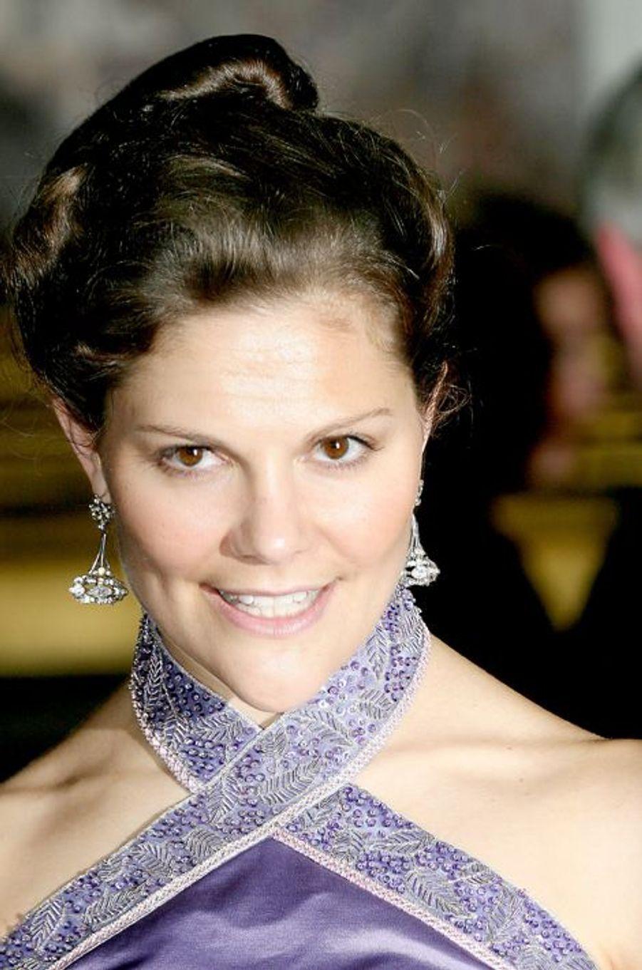 La princesse Victoria de Suède au château de Versailles, le 4 décembre 2006
