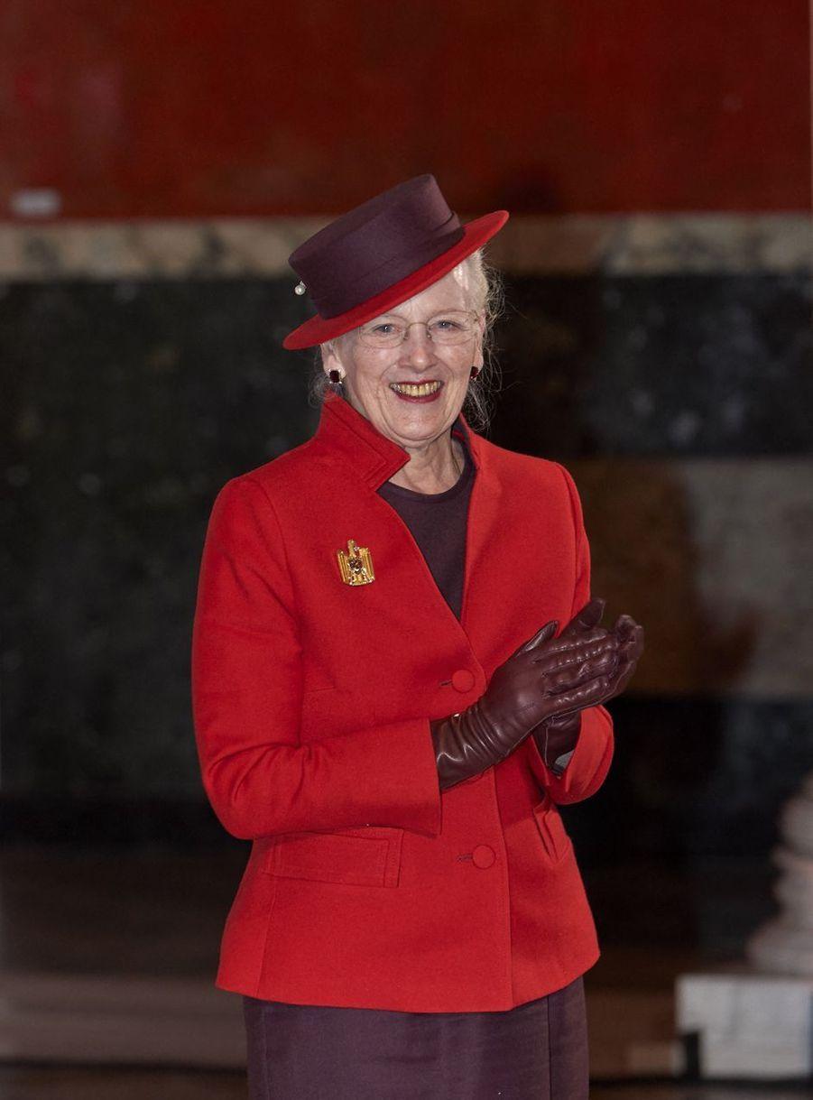La reine Margrethe II de Danemark à la Ny Carlsberg Glyptotek à Copenhague, le 27 novembre 2020