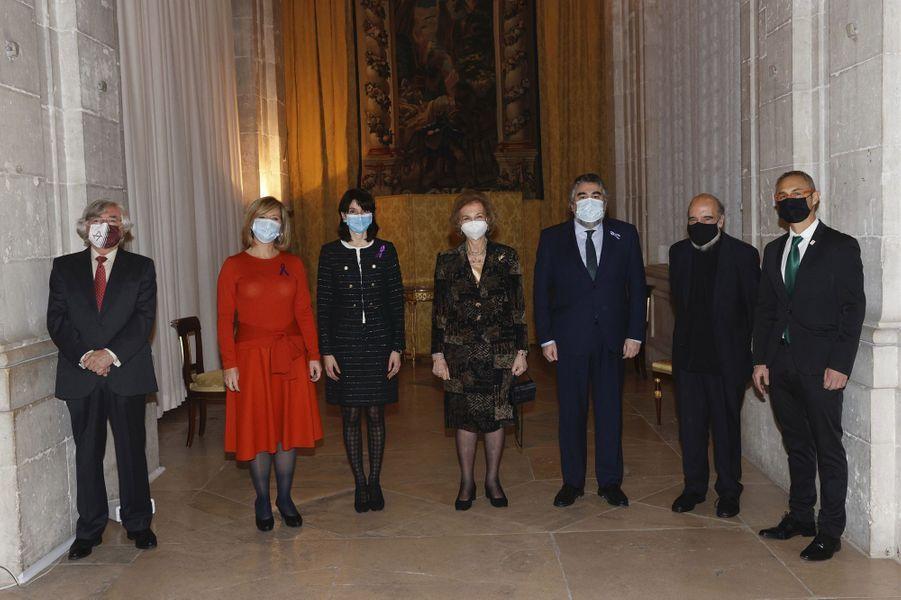L'ex-reine Sofia d'Espagne à Madrid, le 25 novembre 2020