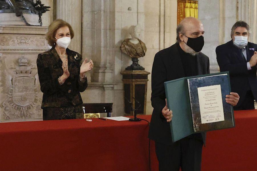 L'ex-reine Sofia d'Espagne au Palais royal, le 25 novembre 2020 à Madrid