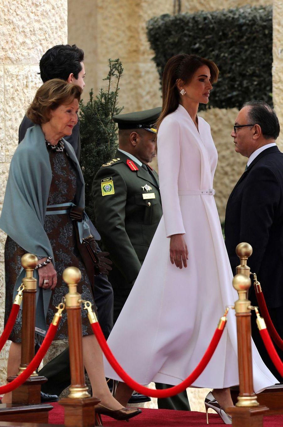La reine Rania de Jordanie, le 2 mars 2020 à Amman