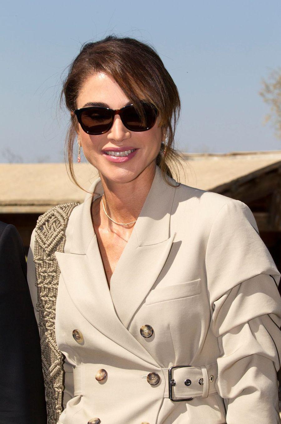 La reine Rania de Jordanie à Béthanie au-delà du Jourdain, le 3 mars 2020