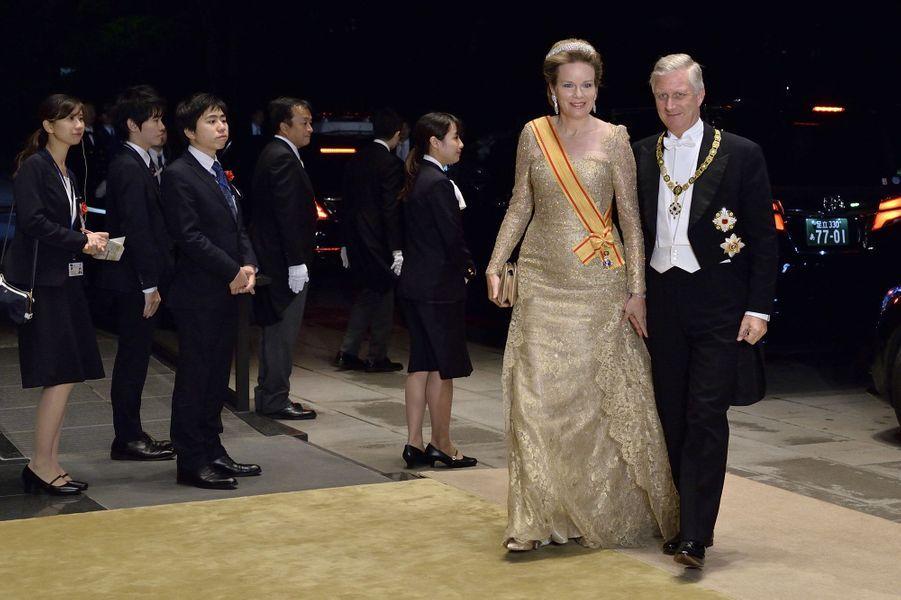 La reine Mathilde et le roi des Belges Philippe à Tokyo, le 22 octobre 2019