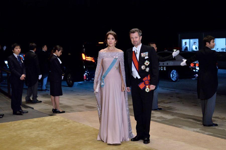 La princesse Mary et le prince héritier Frederik de Danemark à Tokyo, le 22 octobre 2019