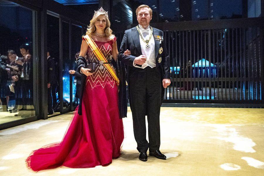 La reine Maxima et le roi Willem-Alexander des Pays-Bas à Tokyo, le 22 octobre 2019