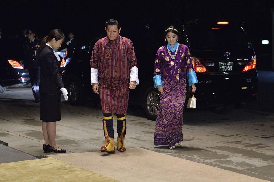 La reine Jetsun Pema et le roi Jigme Khesar Namgyel Wangchuck du Bhoutan à Tokyo, le 22 octobre 2019