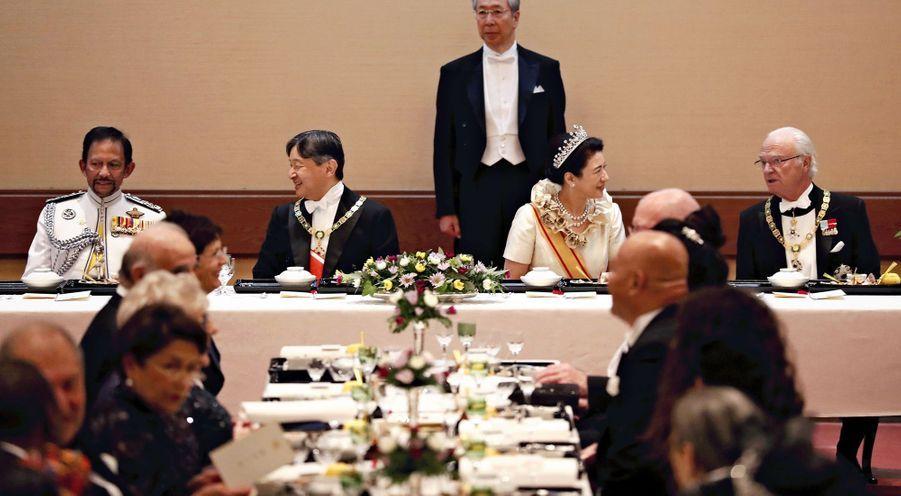 L'impératrice Masako et l'empereur Naruhito du Japon à Tokyo, le 22 octobre 2019