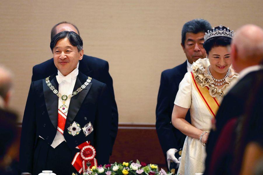Le banquet de l'intronisation de l'empereur Naruhito du Japon à Tokyo, le 22 octobre 2019