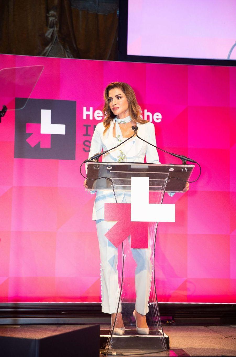 La reine Rania de Jordanie à New York, le 26 septembre 2018