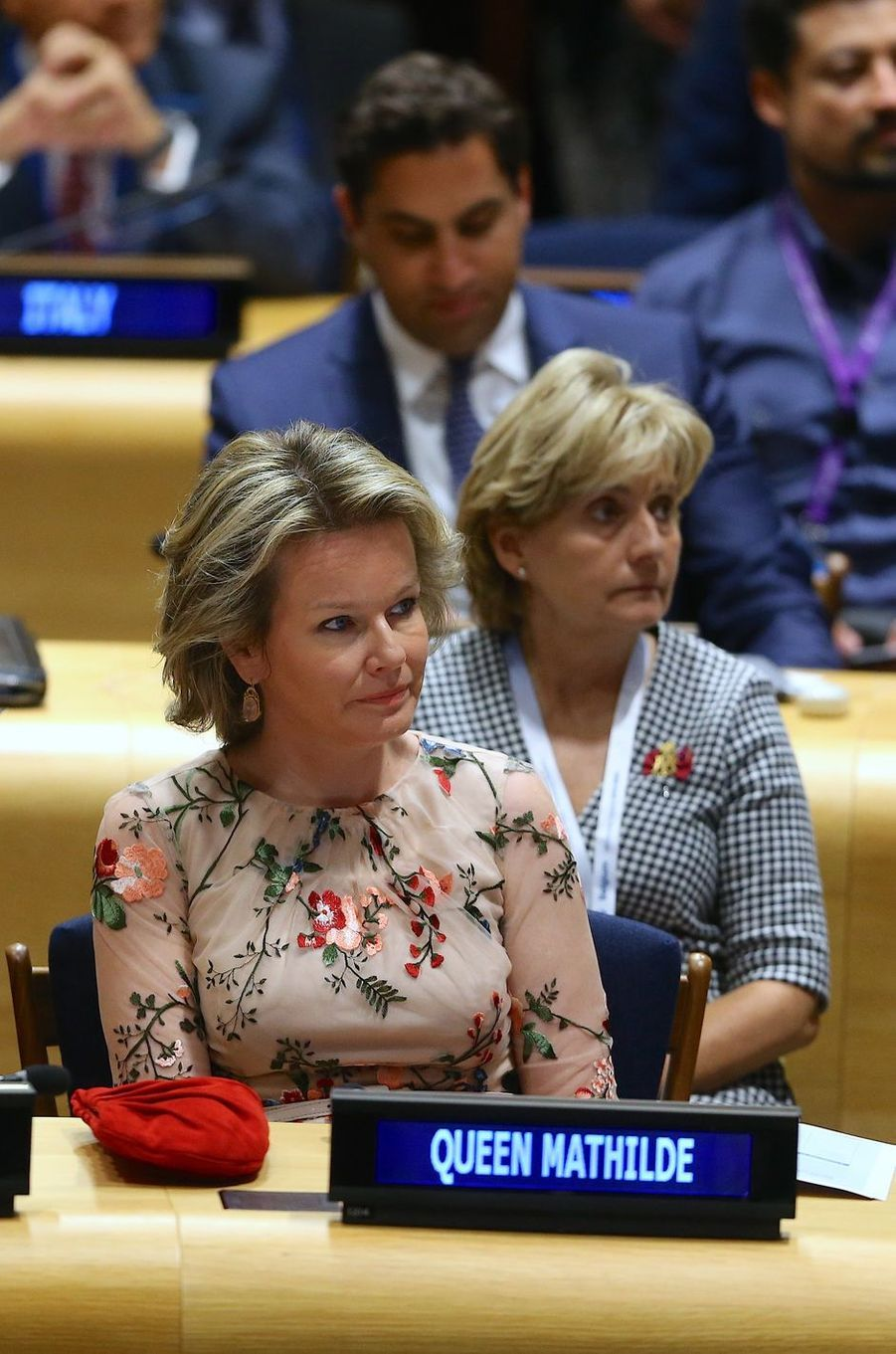 La reine des Belges Mathilde à New York, le 24 septembre 2018