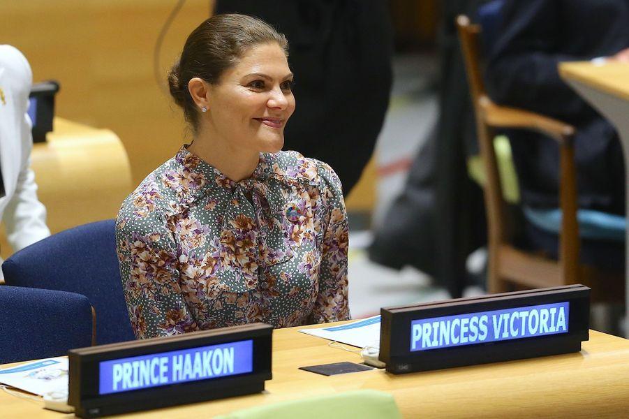 La princesse Victoria de Suède à New York, le 24 septembre 2018
