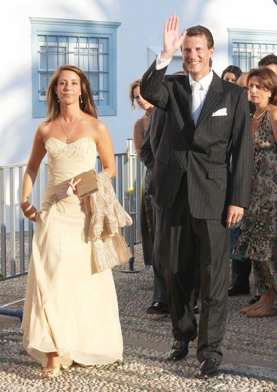 La princesse Marie et le prince Joachim de Danemark sur l'île de Spetses, le 25 août 2010