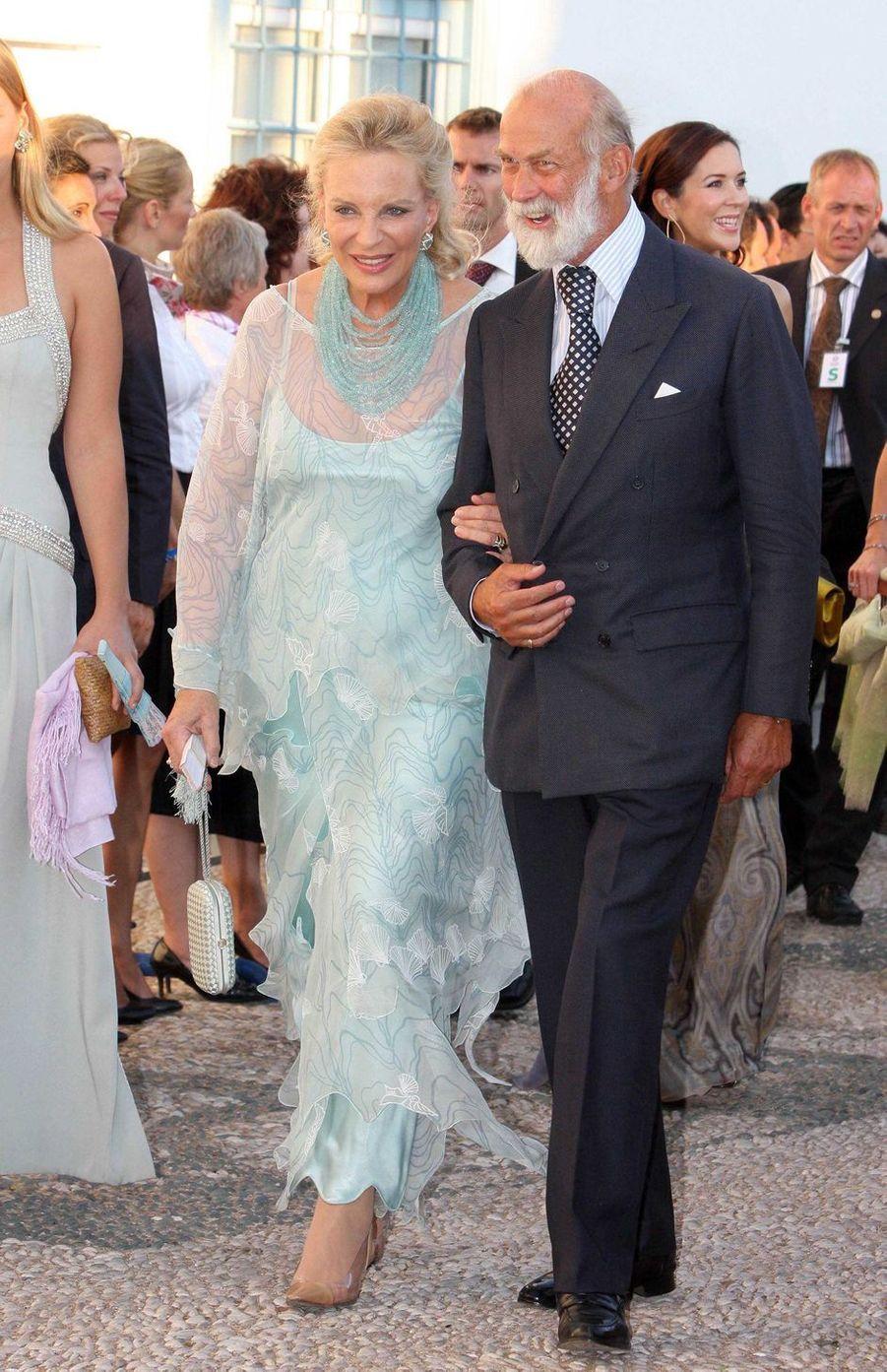 Le prince Mikael de Kent et sa femme Marie-Christine sur l'île de Spetses, le 25 août 2010