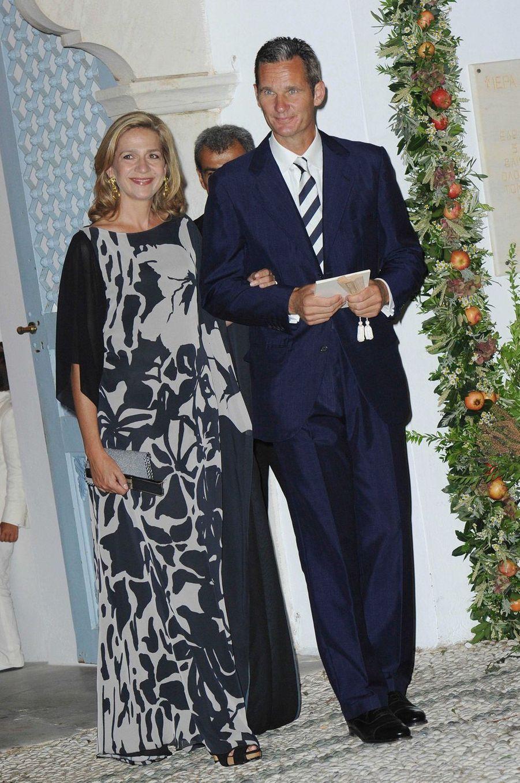 L'infante Cristina d'Espagne et son mari Iñaki Urdangarin sur l'île de Spetses, le 25 août 2010